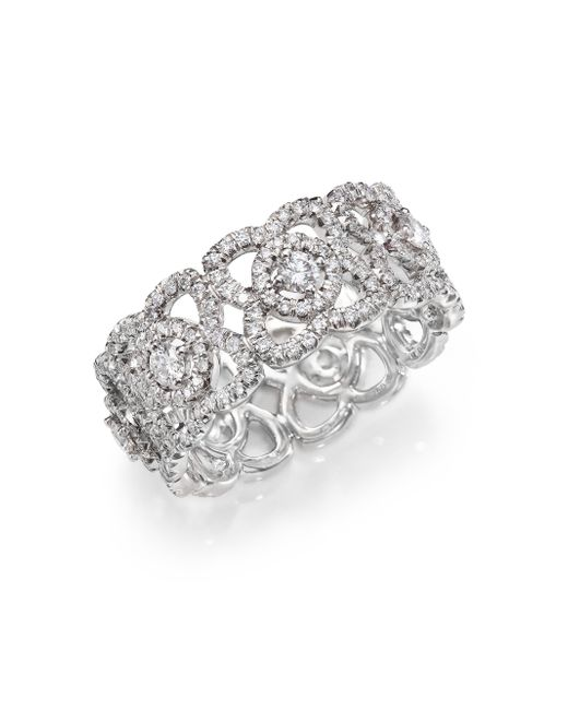 De Beers | Enchanted Lotus Diamond & 18k White Gold Band Ring | Lyst