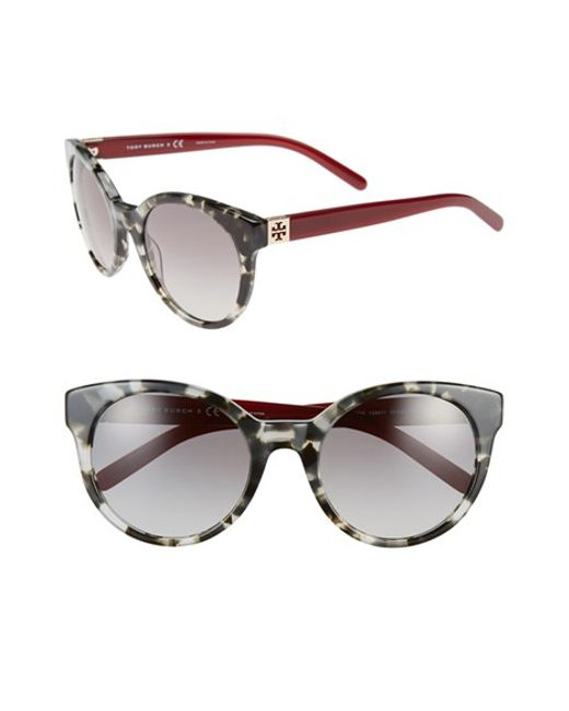 Tory Burch Stacked 54mm Retro Sunglasses Dark Grey
