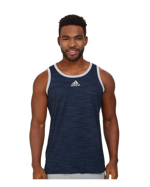 Adidas Originals   Blue Heathered Tank for Men   Lyst