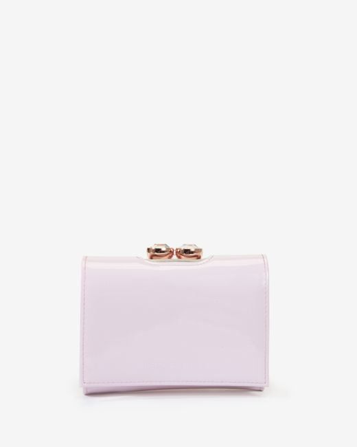 Ted Baker | Pink Leather Crystal Bobble Small Purse | Lyst