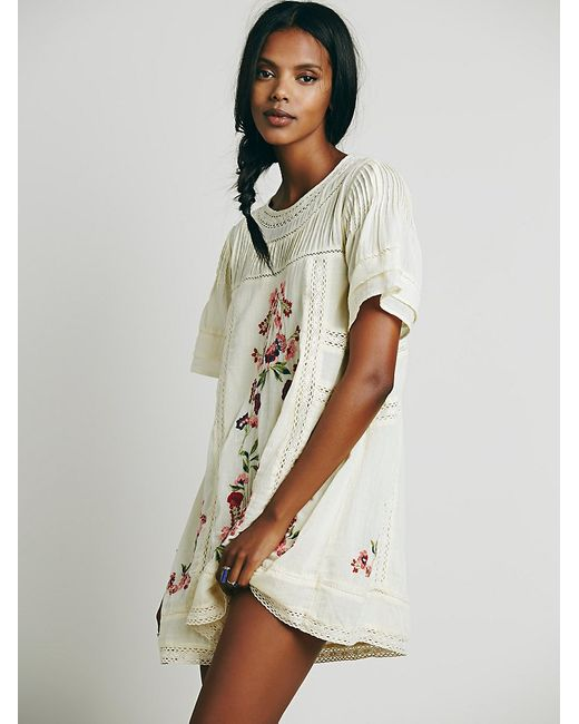 Free People | White Perfectly Victorian Mini | Lyst