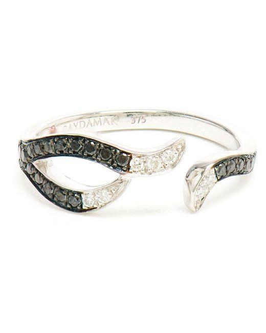 Gaydamak | Black 9k Gold And Diamond Ring | Lyst