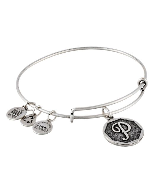ALEX AND ANI | Metallic Initial P Charm Bangle | Lyst