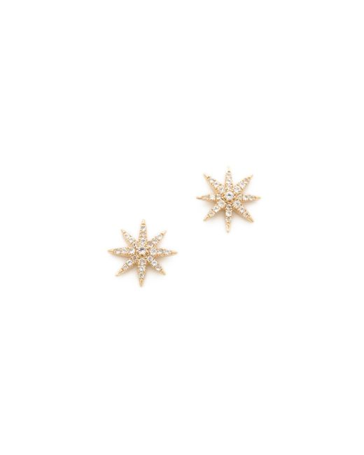 Elizabeth and James | White Compass Rose Stud Earrings | Lyst