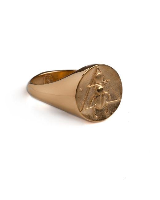 Rachel Entwistle   Metallic The Scarab Signet Ring Gold   Lyst