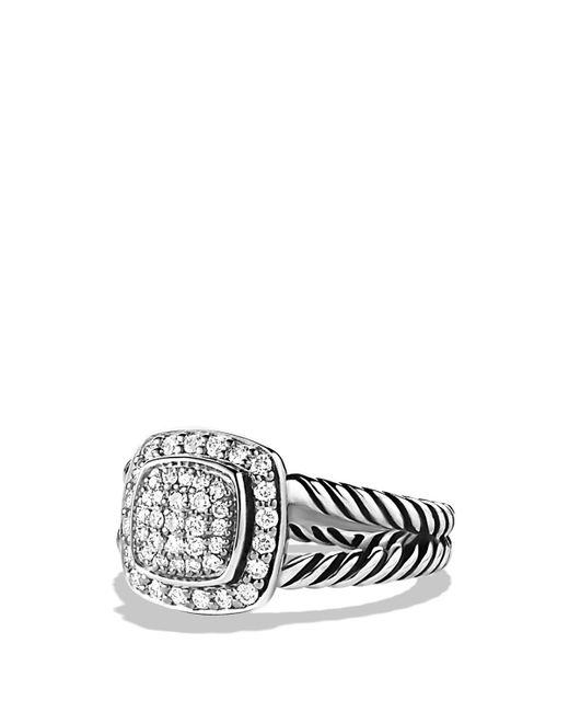 David Yurman | Metallic Petite Albion Ring With Diamonds | Lyst