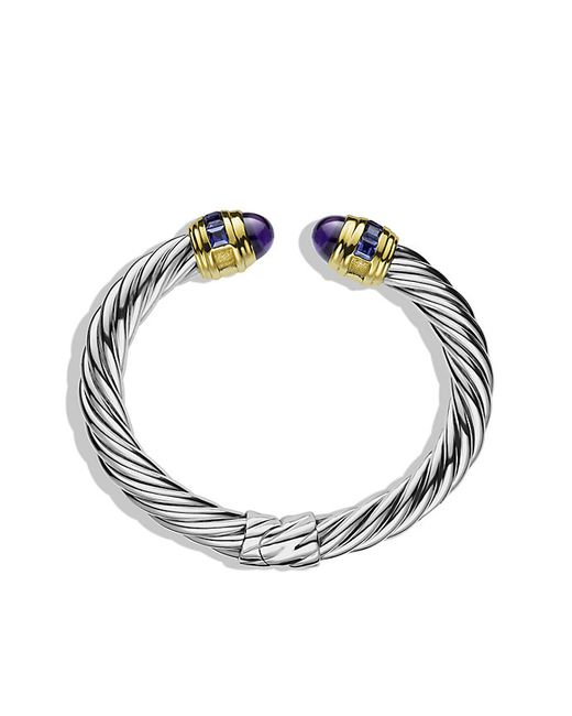 David Yurman | Metallic Renaissance Bracelet With Amethyst, Iolite, And 14k Gold, 8.5mm | Lyst