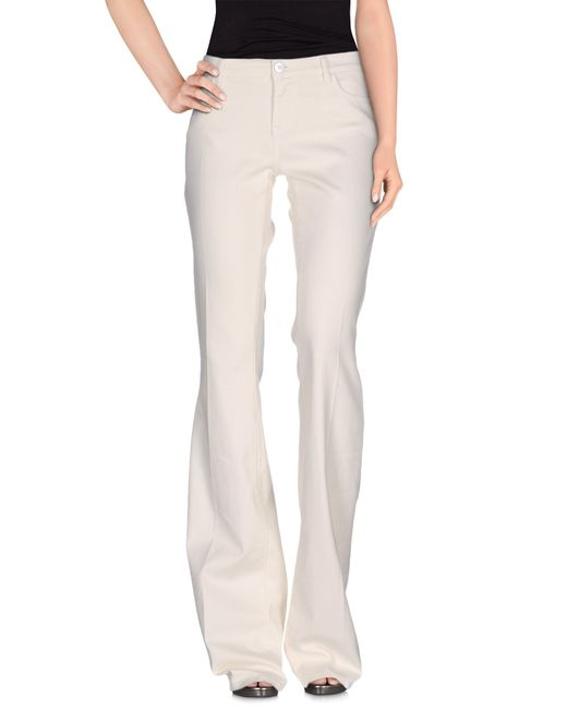 Twin Set | White Denim Pants | Lyst