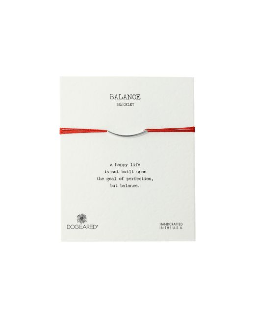 Dogeared | Balance Bar Silk Bracelet Red | Lyst