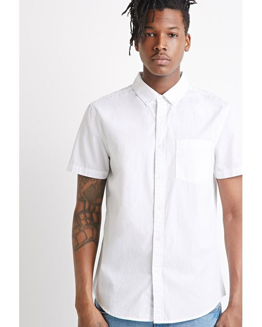 Forever 21   White Button-collar Shirt You've Been Added To The Waitlist for Men   Lyst