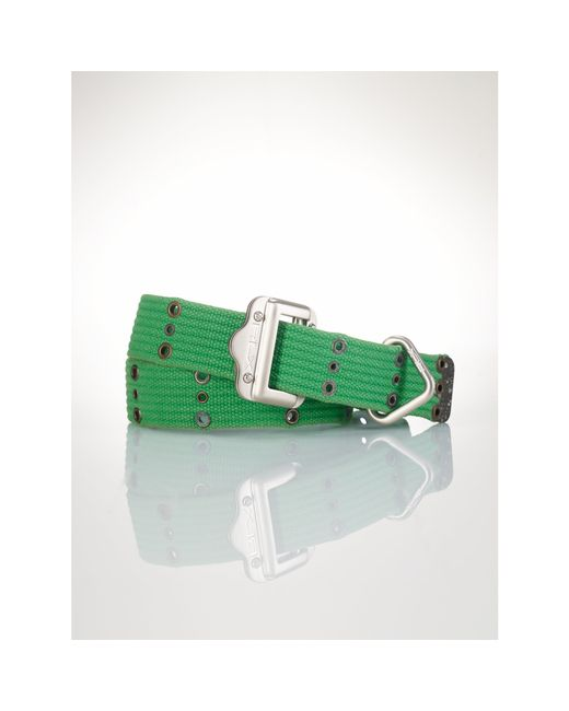 Polo Ralph Lauren | Green Slider-buckle Webbed Belt | Lyst