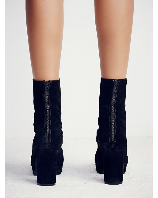 Free People | Black Day For Night Platform Ankle Boot | Lyst