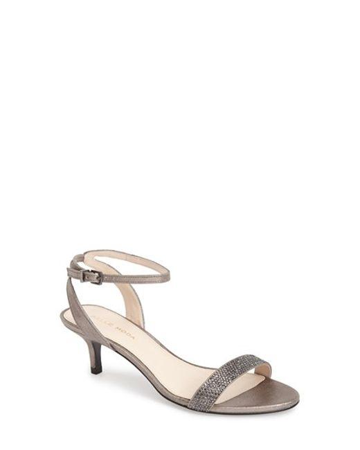 Pelle Moda | Metallic 'fabia' Sandal | Lyst