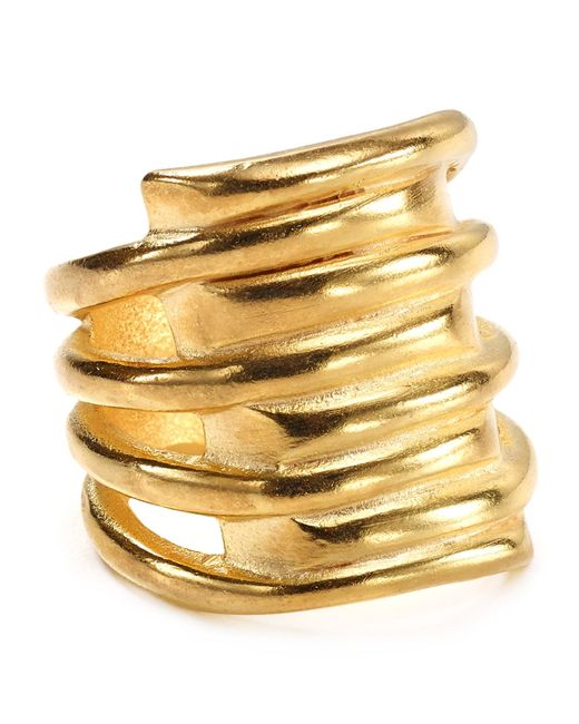 Uno De 50 | Metallic Tornado Ring | Lyst
