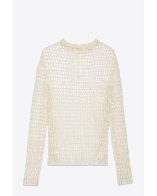 Helmut Lang | White Crochet Pullover | Lyst