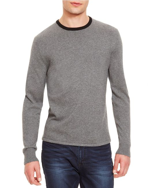 Kenneth Cole | Gray Solid Tipped Sweater for Men | Lyst