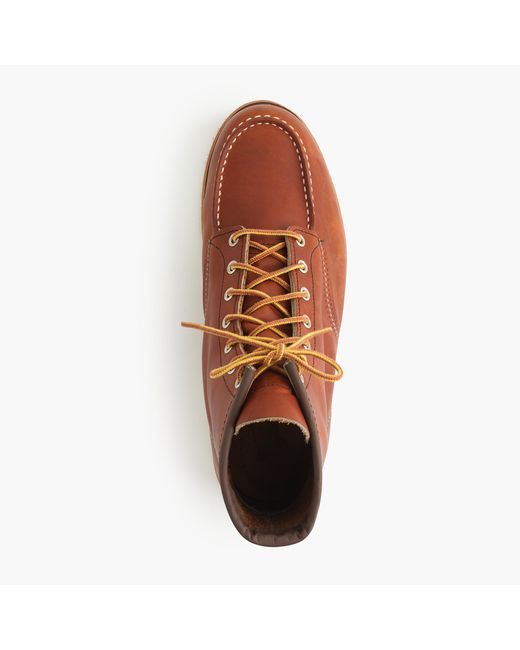 Red Wing | Brown Leather Rubber-Soled Boots for Men | Lyst