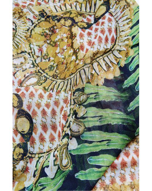 Kekkai   Multicolor Flower Patch Bling Cashmere Blend Scarf   Lyst