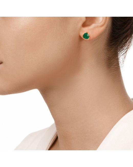 Monica Vinader | Green Siren Stud Earrings | Lyst