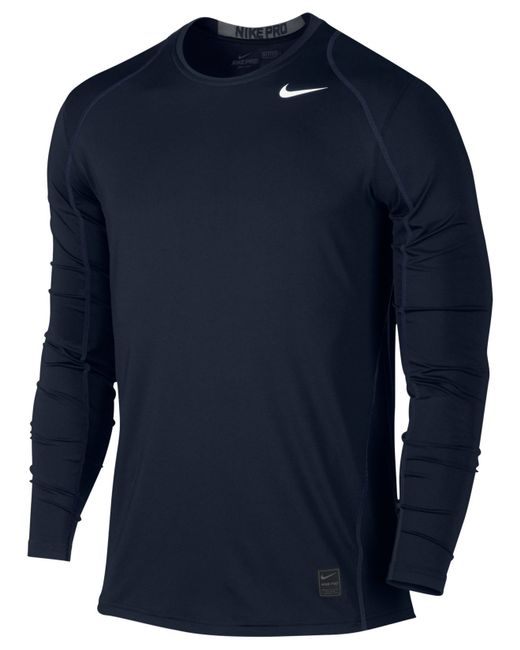 Nike Men 39 S Pro Cool Dri Fit Fitted Long Sleeve Shirt In