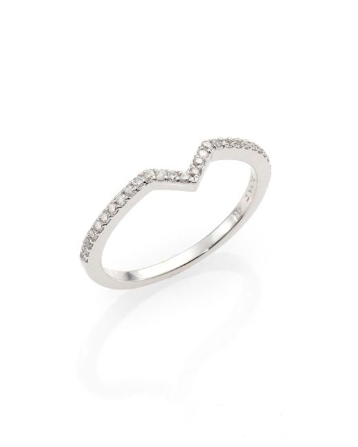 Phyne By Paige Novick | Elisabeth Pave Diamond & 14k White Gold Stackable Ring | Lyst