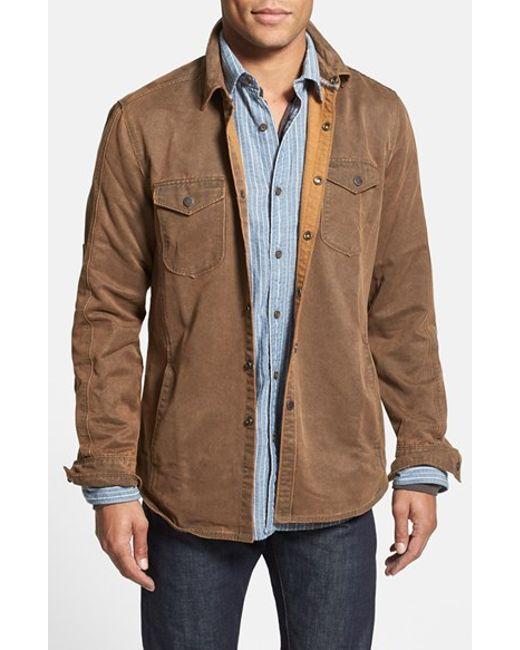 Jeremiah | Brown 'colt' Regular Fit Sueded Cotton Blend Shirt Jacket for Men | Lyst
