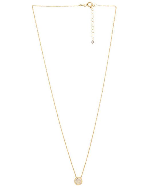 Natalie B. Jewelry | Metallic Natalie B Ottoman Small Disc Necklace | Lyst
