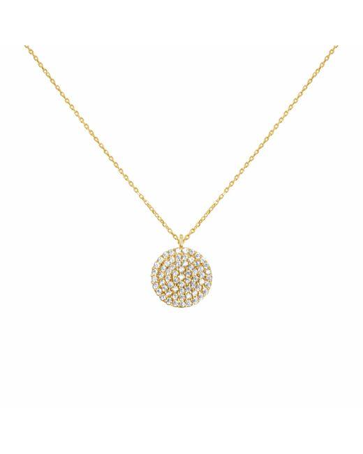 Talia Naomi | Metallic Golden Eclipse Pavé Necklace Gold | Lyst