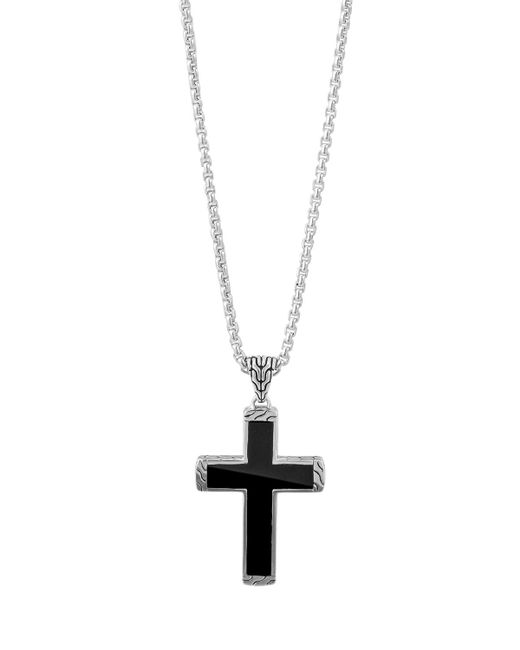 John hardy Men's Classic Chain Black Jade Cross Pendant ...