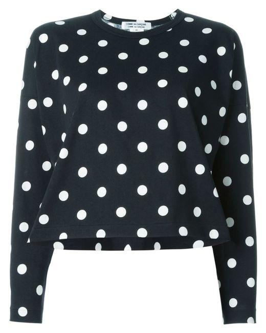 Comme Des Gar Ons Polka Dot T Shirt In Black Save 45 Lyst