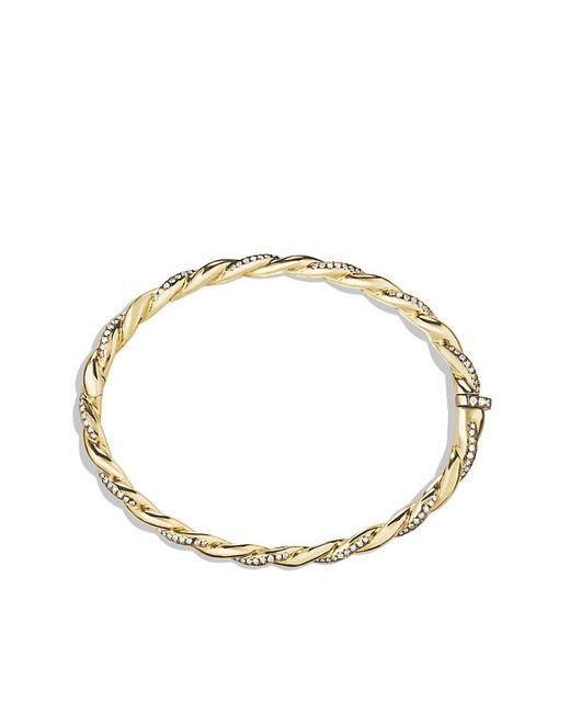David Yurman | Metallic Wisteria Bracelet With Diamonds In Gold | Lyst