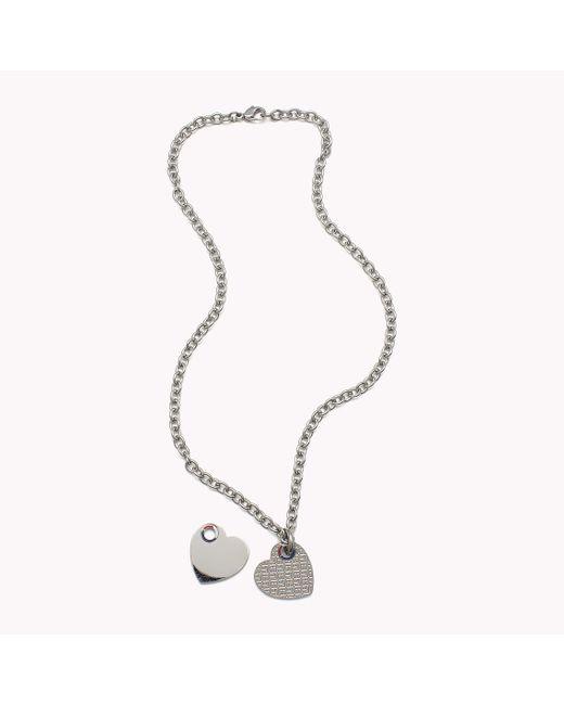 Tommy Hilfiger | Metallic Heart Necklace | Lyst