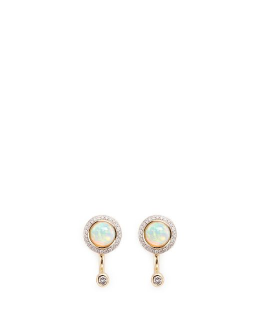 Pamela Love | Metallic 'gravitation' Diamond Pavé Opal Stud Earrings | Lyst
