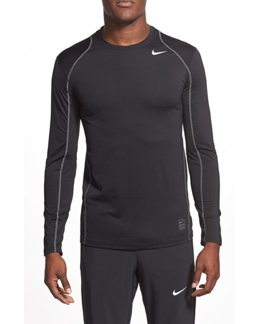 Nike 39 pro cool compression 39 fitted long sleeve dri fit t for Cool long sleeve t shirts for men