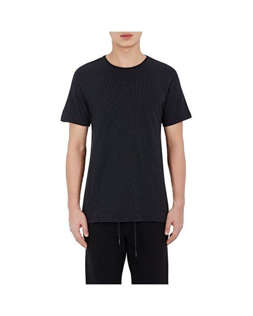Rag Bone Men 39 S Pinstriped Jersey T Shirt In Blue For Men