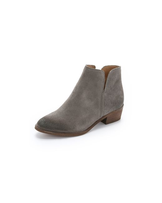 Splendid | Gray Hamptyn Suede Booties | Lyst