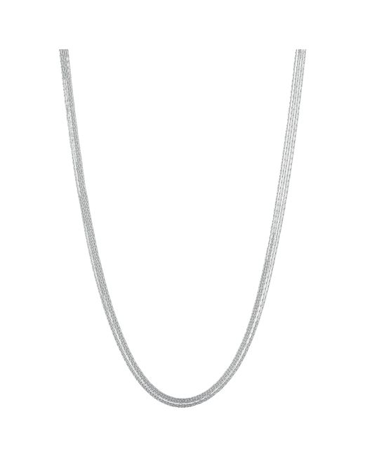 Links of London | Metallic Essentials Sterling Silver Silk 5 Row Necklace | Lyst