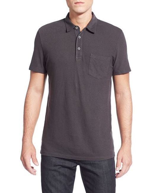 AG Jeans | Gray Cliff Pique Polo Shirt for Men | Lyst
