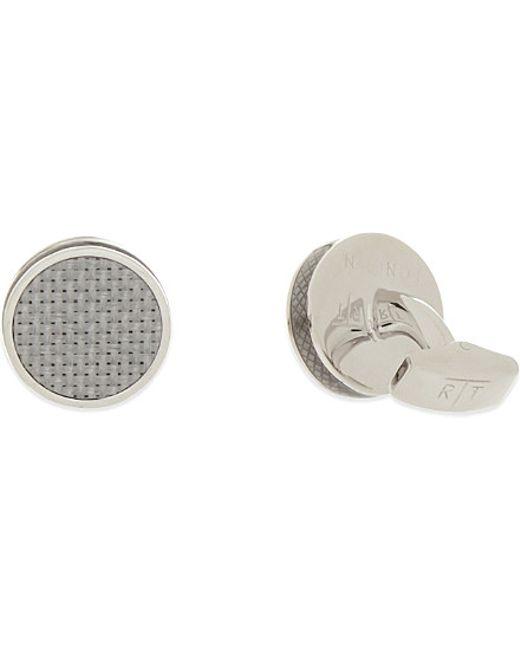 Tateossian | Metallic Round Cufflinks, Men's, Grey for Men | Lyst