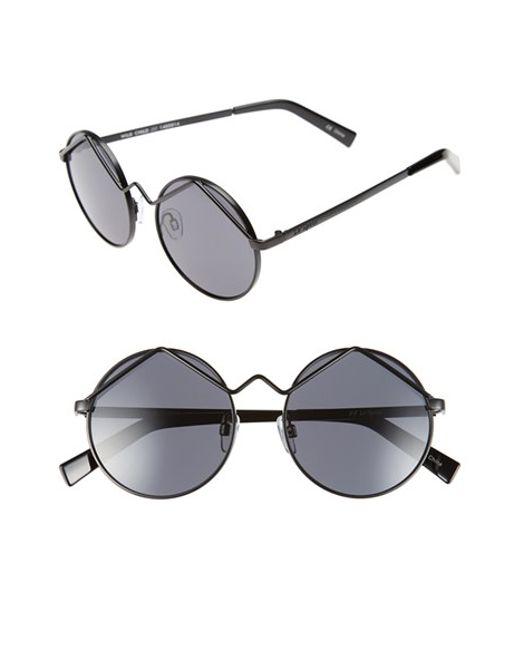 Le Specs | Black 'wild Child' 52mm Sunglasses | Lyst