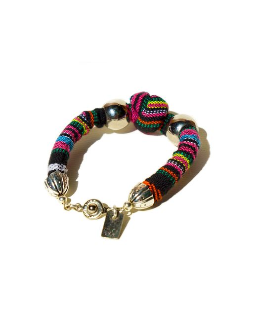 Ix Style | Multicolor Pink Knotted Bracelet | Lyst