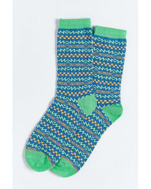 Urban Outfitters | Blue Skate Pattern Sock for Men | Lyst