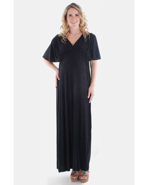 Everly Grey | Black 'goddess' Maternity Maxi Dress | Lyst