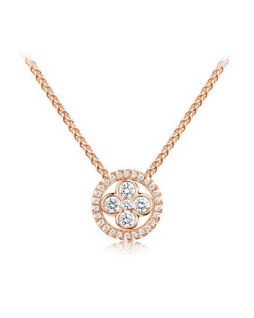 Louis Vuitton | Sun Blossom Pendant, Pink Gold And Diamonds | Lyst