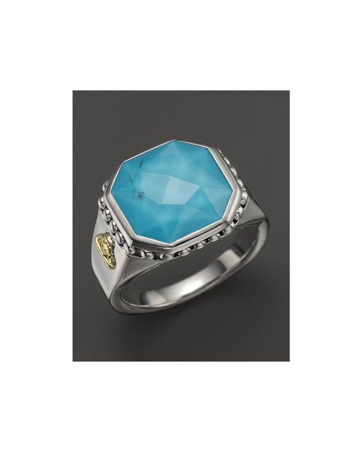 Lagos | Metallic Turquoise Doublet Ring | Lyst