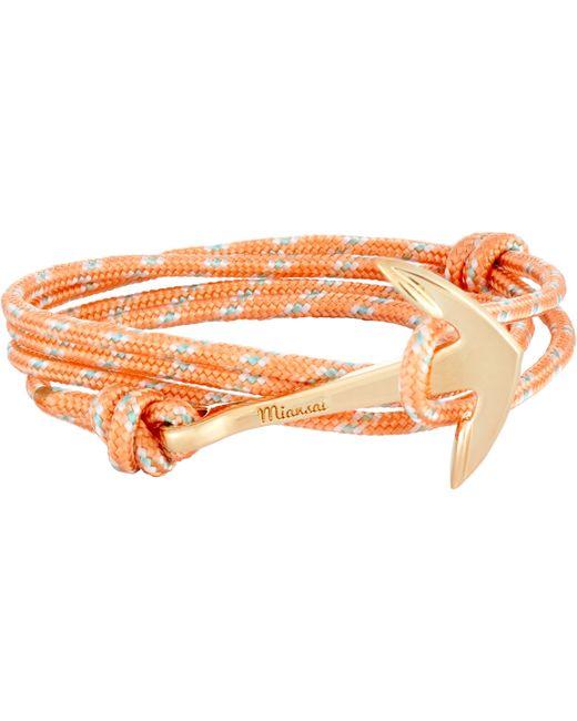 Miansai | Orange Anchor On Rope Bracelet for Men | Lyst
