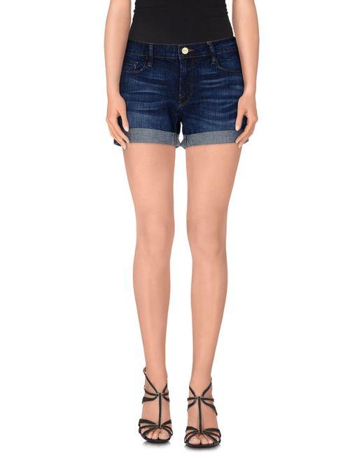 FRAME | Blue Denim Shorts | Lyst