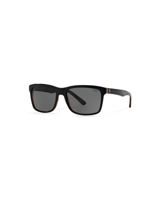 Polo Ralph Lauren | Black Square Sunglasses for Men | Lyst