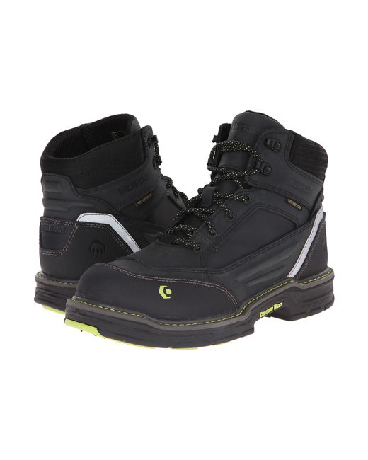 "Wolverine | Black Overman 6"" Composite Toe Boot for Men 
