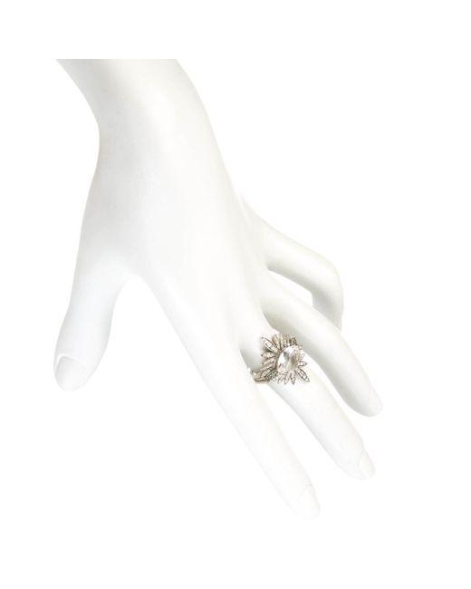 Alexis Bittar | Metallic Silver Gaze Marquis Sunburst Ring You Might Also Like | Lyst